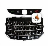 Teclado Blackberry 9800 Qwerty Superior e Inferior Preto Original