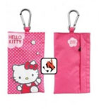 Bolsa Vertical Universal HELLO KITTY Flores Rosa Original