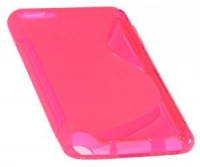 Capa em Silicone  S-CASE  iPod Touch 5 Rosa Transparente