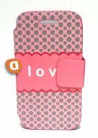 Capa Protetora  Flip Book Fashion Less Love  Samsung S5830 Galaxy Ace