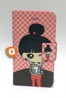 Capa Protetora  Flip Book Fashion Pink Girl  Iphone 4, Iphone 4S