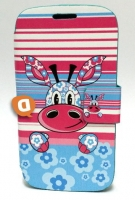 Capa Protetora  Flip Book Fashion Stripes Animal  BQ Aquaris 4.0
