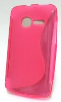 Capa Silicone  S-CASE  Vodafone Smart Mini OT-4010 Rosa Transparente