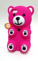 Capa Silicone 3D Samsung N9005 Note 3 Urso Rosa