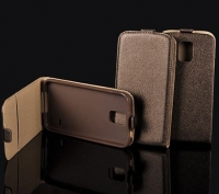 Capa  Flip Pocket Slim Vertical  Nokia Lumia 520 Castanho