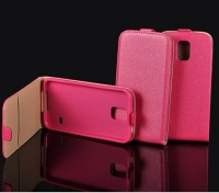 Capa  Flip Pocket Slim Vertical  Nokia Lumia 520 Rosa