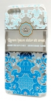 Capa Silicone Fashion  Queen  Iphone 5 Azul