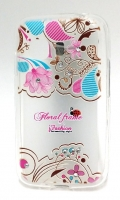Capa Silicone Fashion  Floral  Samsung Young 2 (Samsung G130)