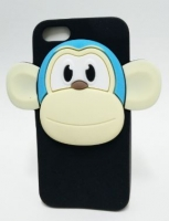 Capa Silicone  Monkey 3D  Iphone 5, Iphone 5S Black