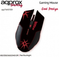 Rato Optico Gaming appTwister 6B/2400 DPI Approx Red Backlight