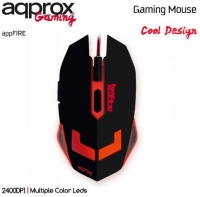 Rato Optico Gaming appFire 6B/2400 DPI Approx Multiple Color Leds