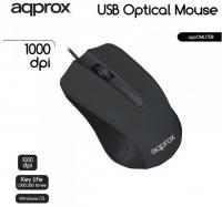 Rato Optico C/ Fio Lite appOMLITEB 1000 DPI Approx Preto