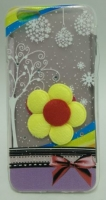 Capa em Silicone  Fashion 3D Flower  Iphone 6