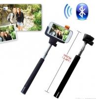 Monopod Selfie Bluetooth Extensivel com Botão Incorporado Preto em Blister