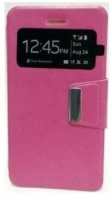 Capa  Flip Book com Janela  Vodafone Speed 6 / Alcatel Pixi 3 (4.5 ) Rosa