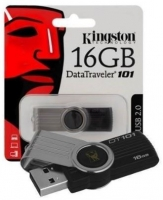 Pen Kingston 16GB Usb 2.0 Datatraveler 101 G2 Preto em Blister