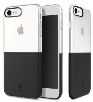 """Capa Iphone 7 """"Baseus"""" Premium Maker Preta Transparente em Blister"""