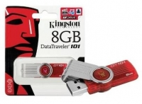 Pen Kingston 8GB Usb 2.0 Datatraveler 101G2 DT101 Vermelha em Blister