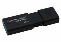 Pen Kingston 8GB Usb 3.0 Datatraveler 100 G3 DT100G3 Preto em Blister