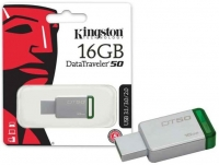 Pen Kingston 16GB Usb 3.0 Datatraveler 50 DT50 Metal Verde em Blister