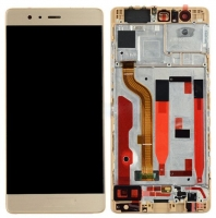 Touchscreen com Display e Aro Huawei P9 Dourado