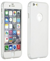 Capa Iphone 7  Full Body  Branco com Pelicula de Vidro Temperado