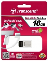 Pen 16GB Transcend Usb 3.0 OTG JetFlash 880 Metal em Blister