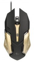 Rato Gaming Optico USB ART AM-98 2400DPI Preto/Dourado