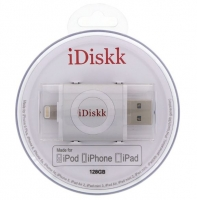 Pen iDisk Lightning 128GB Cinza (Iphone 5, 5S, Iphone 6, 6s, Ipad Air, Ipad Mini, Ipad 4, Ipod 5)
