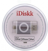 Pen iDisk Lightning 128GB Cinza Escuro (Iphone 5, 5S, Iphone 6, 6s, Ipad Air, Ipad Mini, Ipad 4, Ipod 5)