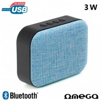 Coluna Omega Bluetooth 3W USB/Bluetooth Azul