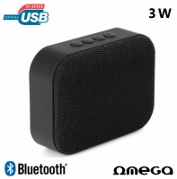 Coluna Omega Bluetooth 3W USB/Bluetooth Preto