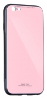 Capa Iphone X, Iphone XS  Glass  Silicone Rosa Opaco
