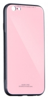 Capa Iphone XS Max  Glass  Silicone Rosa Opaco
