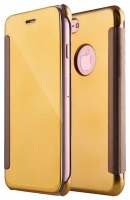 Capa Iphone 7, Iphone 8 Flip Book Clear View Dourado