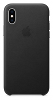 Capa Iphone XS Max Apple MRWT2FE/A Leather Case Preto em Blister