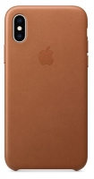 Capa Iphone XS Max Apple MRWV2FE/A Leather Case Castanho em Blister