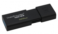 Pen Kingston 128GB Datatraveler 3.0 100 G3 Usb DT100 G3 Preto em Blister