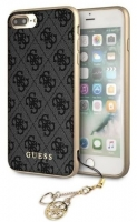 Capa Iphone 7 Plus, Iphone 8 Plus GUESS Charms Collection GUHCI8LGF4GGR Cinza Escuro em Blister