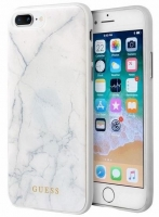 Capa Iphone 7 Plus, Iphone 8 Plus GUESS Marble GUHCI8LHYMAWH Branco em Blister