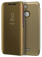 Capa Xiaomi Redmi 6, Redmi 6A Flip Book Clear View Dourado Compativel