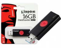 Pen Kingston 16GB Datatraveler DT106 Preto em Blister