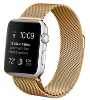 Bracelete Apple Watch Series 1 / 2 / 3 / 4 (38 / 40 mm) Metal Dourado