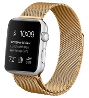 Bracelete Apple Watch Series 1 / 2 / 3 / 4 (42 / 44 mm) Metal Dourado