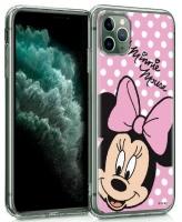 """Capa Iphone 11 6.1"""" Disney Minnie Rosa Licenciada Silicone em Blister"""