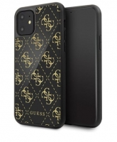 Capa Iphone 11 6.1  GUESS Double Glitter Preto em Blister