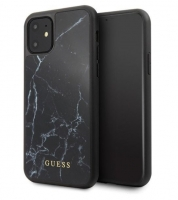 Capa Iphone 11 6.1  GUESS Marble GUHCN61HYMABK Preto em Blister