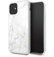 Capa Iphone 11 Pro Max 6.5  GUESS Marble GUHCN65HYMAWH Branco em Blister