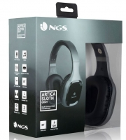 Headphones Bluetooth e Micro NGS Artica Sloth Gray Preto