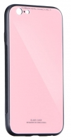 Capa Iphone 11 6.1   Glass  Silicone Rosa Opaco